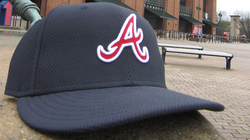 New Braves batting practice cap.