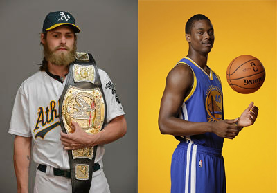 Josh Reddick and Harrison Barnes could tag team in the near future in a scavenger hunt.