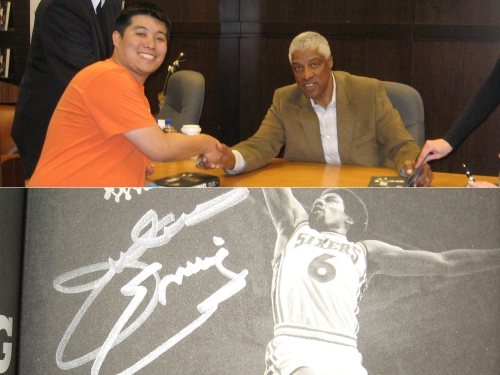 It was a true honor to meet Dr. J, shake his hand and get his autograph.