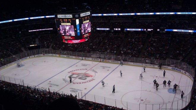 It was a good environment for a hockey game.