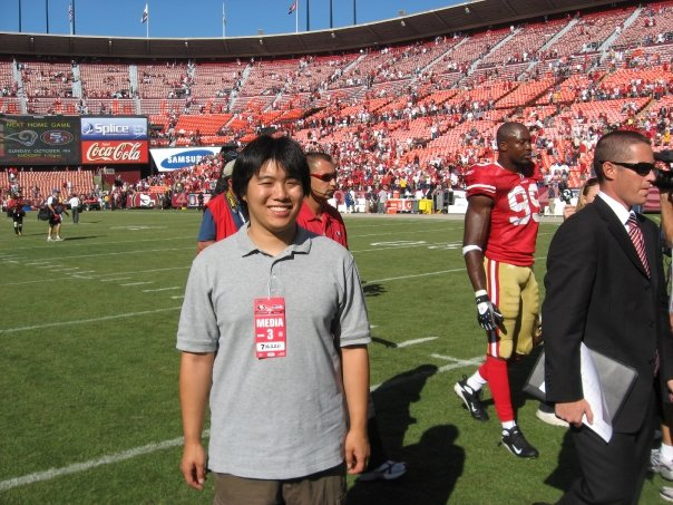 My first game as a writer covering the 49ers. I had no idea that this would be the start of a big change in my career.