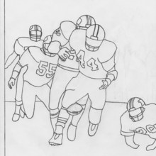 the fumble - Cleveland Sports Coloring Book