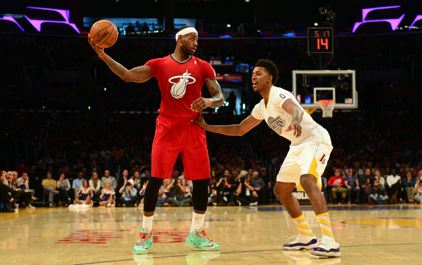 LeBron James has been among the more vocal critics of the NBA's sleeved jerseys. (FREDERIC J. BROWN AFP/Getty Images)