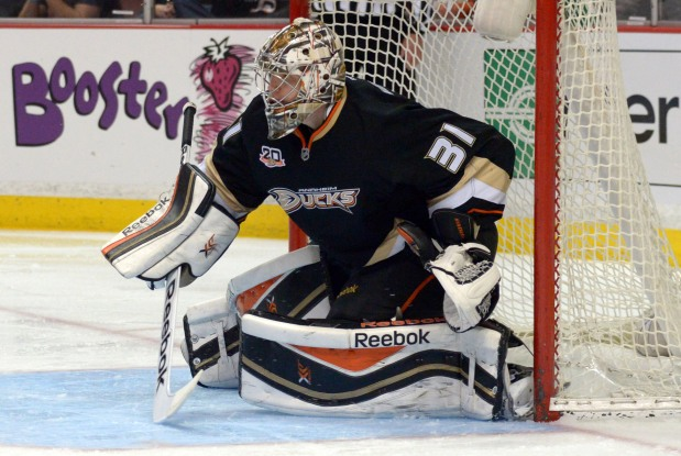 The Ducks are putting their playoff trust in a rookiegoalie