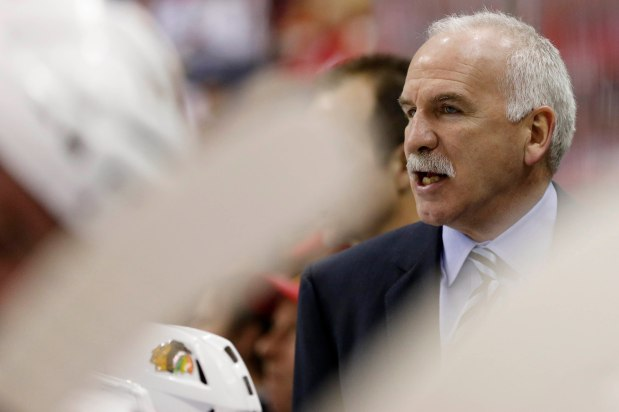 Blackhawks coach Joel Quenneville fined for inappropriate gesture
