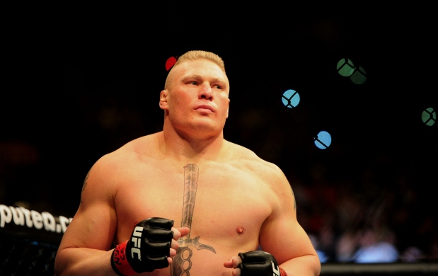 WWE champ Brock Lesnar announces that he's not going back to UFC